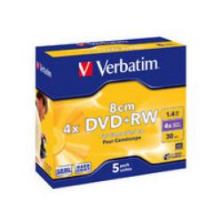 Verbatim - DVD-RW (8cm) x 5...