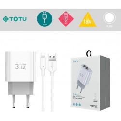 Chargeur secteur 18W 2 USB...