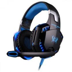 Casque G2000 Gamer bleu USB 3.5mm avec micro et LED