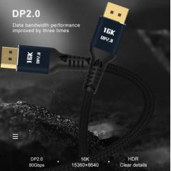 Display Port 2.0 Mâle à...