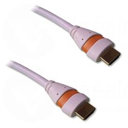 Cordon HDMI 2.0 Ethernet 3m A-A M-M Blanc/orange