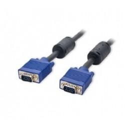 Cordon VGA HD15 M/M 2 ferrites 5M