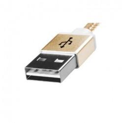 Câble USB type A vers Micro B mâle, 1mètre, or