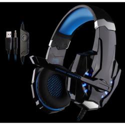 Casque G9000 Gamer Bleu ps4 7.1 pour jeux USB 3.5mm