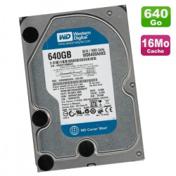 DISQUE DUR 3.5 WESTERN DIGITAL 640GB SATA 64MO 7200T CAVIAR BLUE v2