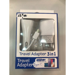 Travel adaptateur 3 en 1...